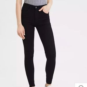 American Eagle high rise blk jeggings